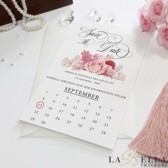 Save the Date Romantic Blush