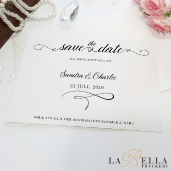 Save the Date Lovely Script