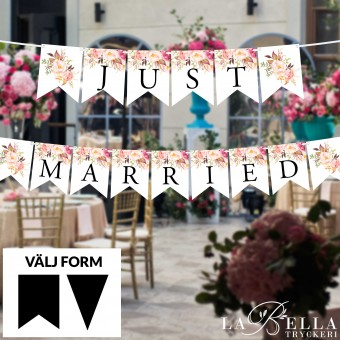 Just Married Flaggspel - La...