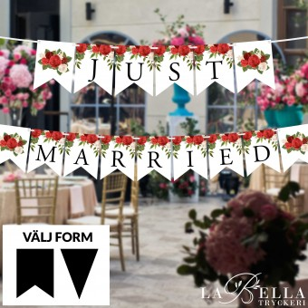 Just Married Flaggspel -...